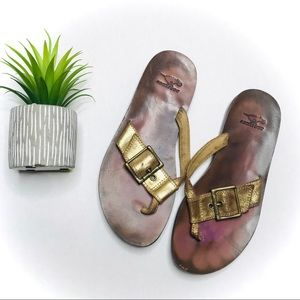 Rocket Dog Gold Buckle Sandals